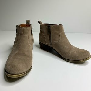 Lucky Brand tan betwixt suede booties size 8